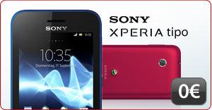 Sony Xperia Tipo für Null Euro