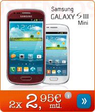 Samsung Galaxy S III Mini nur 2 x 2,95 Euro mtl.