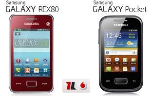 Samsung Galaxy Pocket und Samsung REX80 KOMPLETT KOSTENLOS