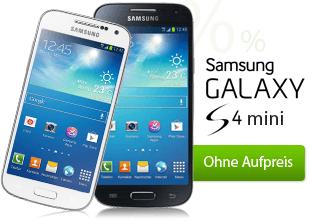 Samsung Galaxy S4 mini ohne Aufpreis