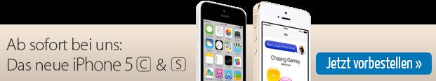 Jetzt bei uns: Das neue iPhone 5c und 5s - Angebote ansehen