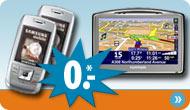 Handytarife mit einem Navigationssystem als kostenlose Zugabe