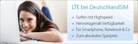LTE-Tarif Auswahl auf Deutschlandsim