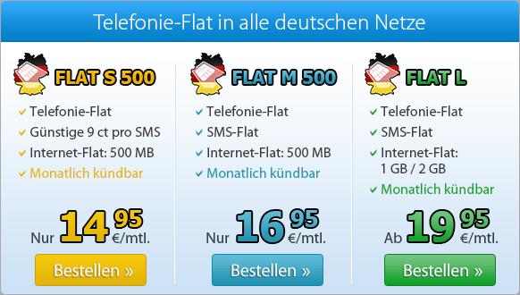 Bei DeutschlandSIM finden Sie den passenden Telefonie-Flat-Tarif