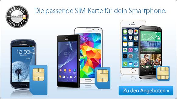 Bei DeutschlandSIM finden Sie die passende SIM für Ihr Smartphone