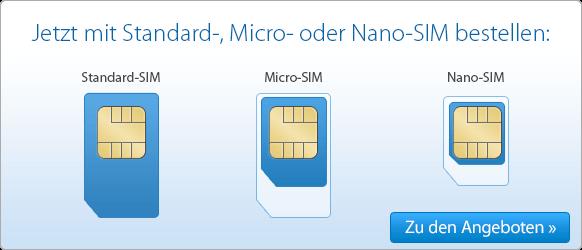 Bei DeutschlandSIM erhalten sie alle SIM-Kartenformate